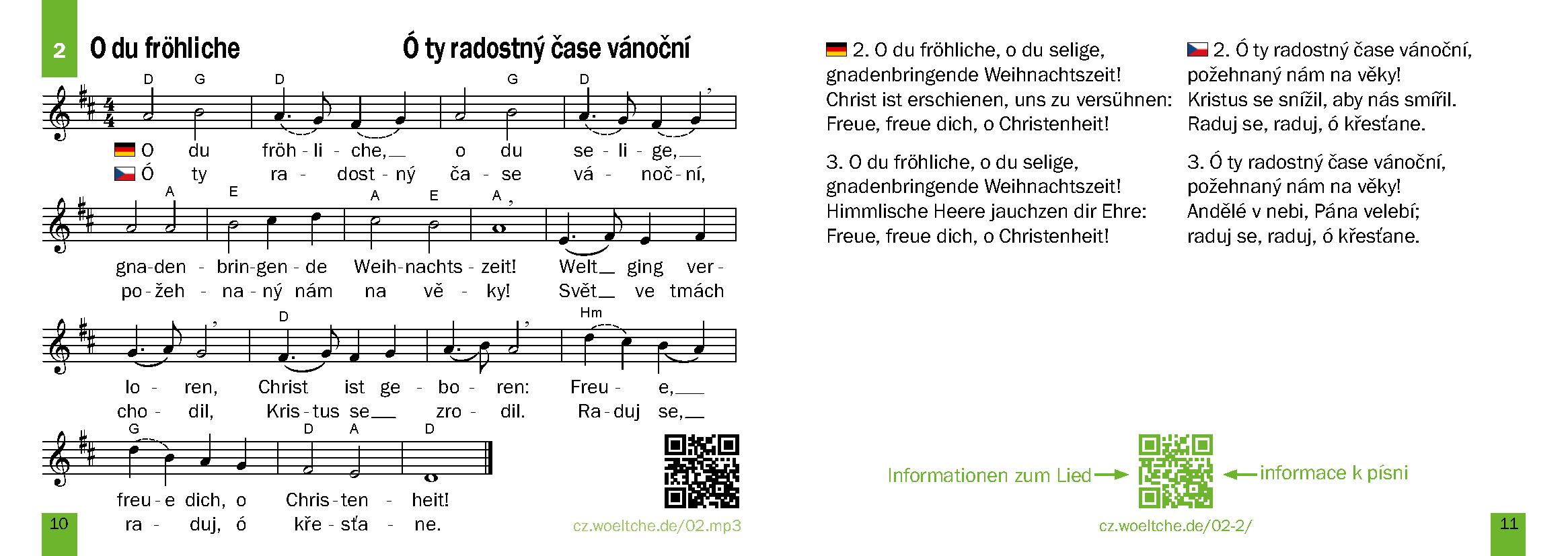 Weihnachtslieder – Vánoční písně a koledy – interaktiv – interaktivní